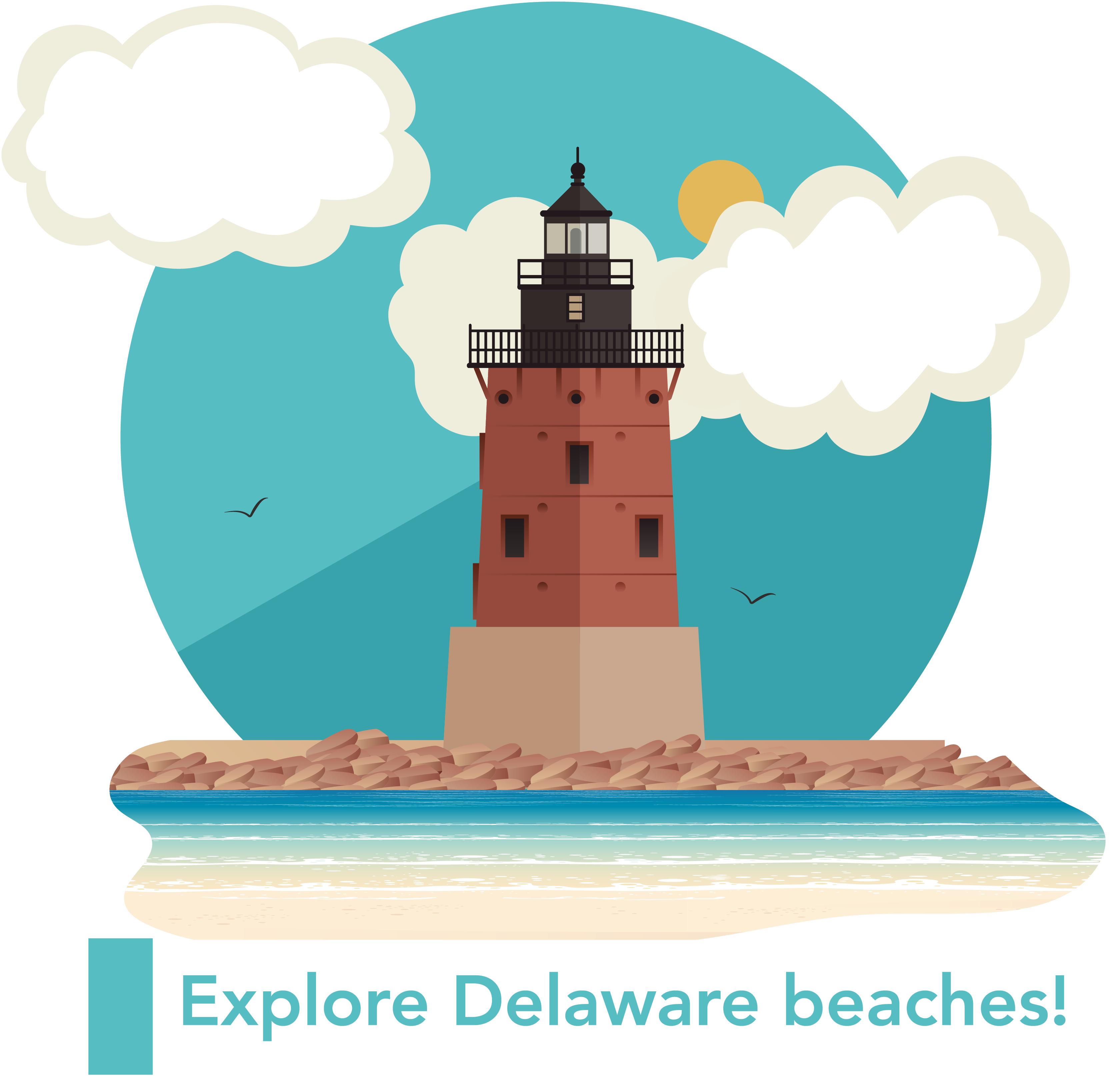 Delaware Beaches with an alert on it.