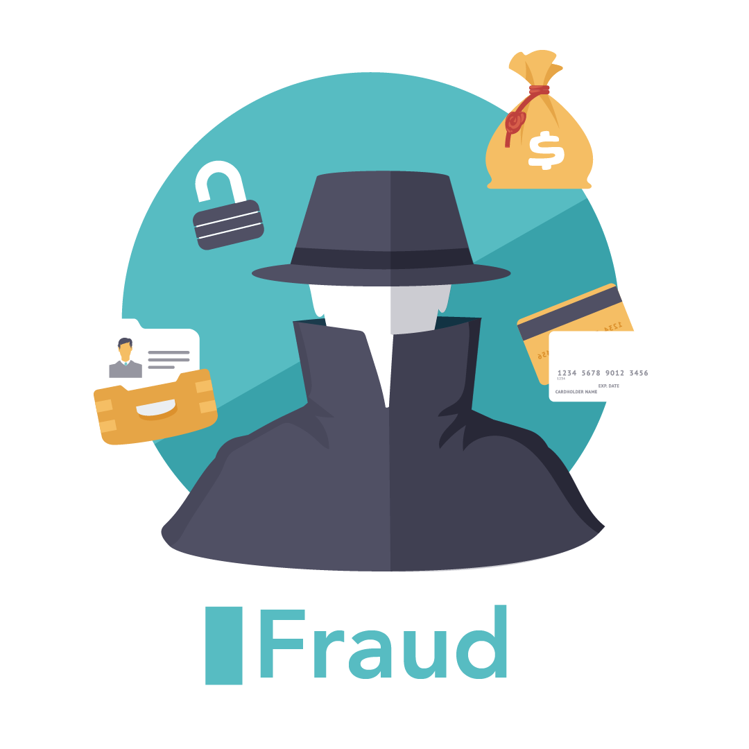 Graphic with the text Fraud and Consumer Protection