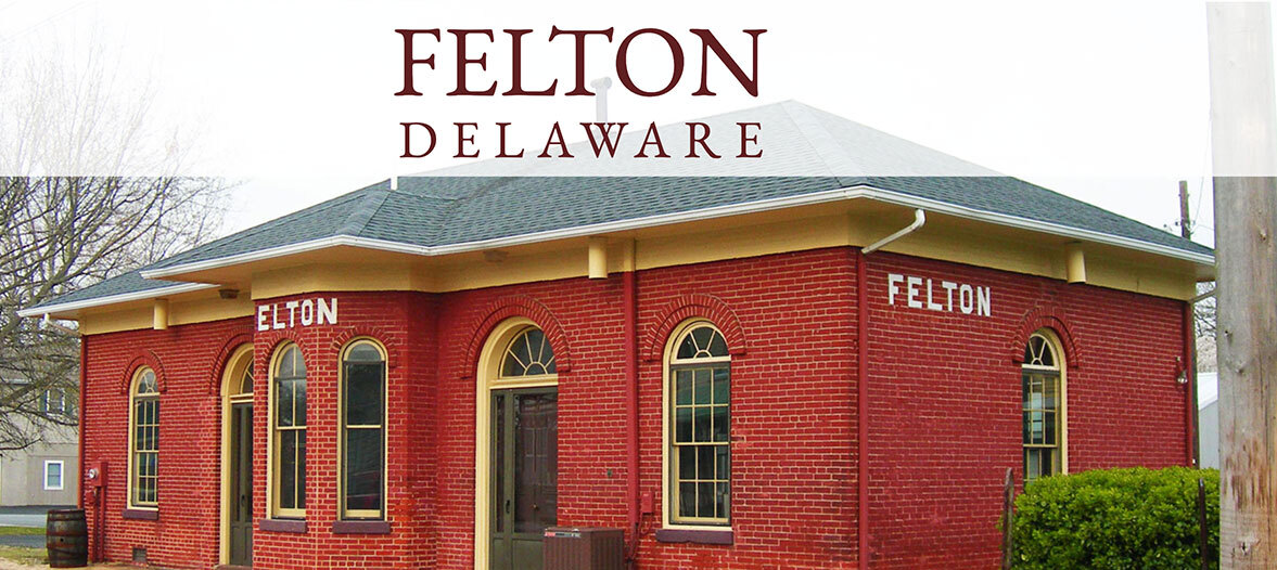 Town of Felton's Brick Town Hall on a winters day.