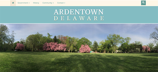 A picture of the Village of Ardentown, Delaware's website