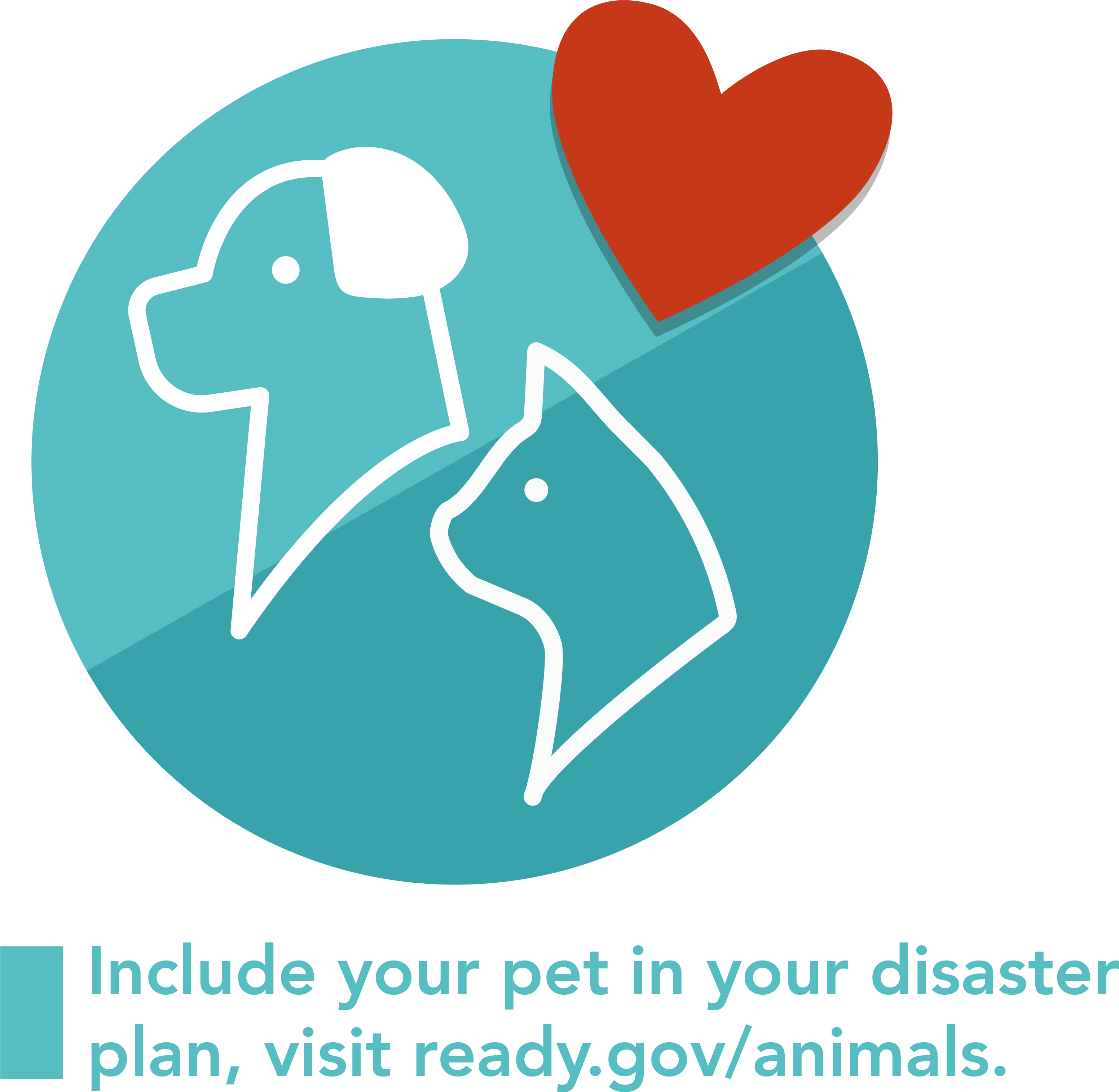A graphic of an icon of pets